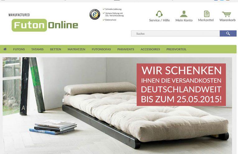 Futons, Futonbetten und Matratzen im Online Shop bei FutonOnline.de