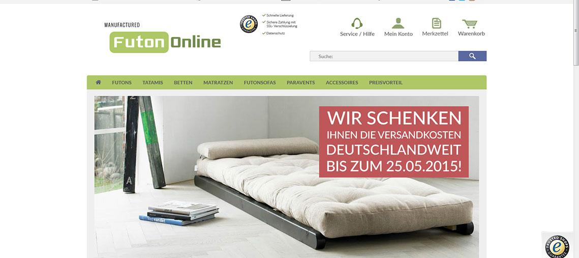 futons futonbetten und matratzen im online shop bei. Black Bedroom Furniture Sets. Home Design Ideas